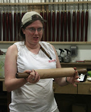 Photo: She also made a rolling pin.