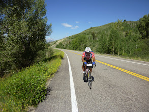 Photo: Day 18 Jackson Hole to Dubois WY 88 miles 4450' climbing: Dale on the road.