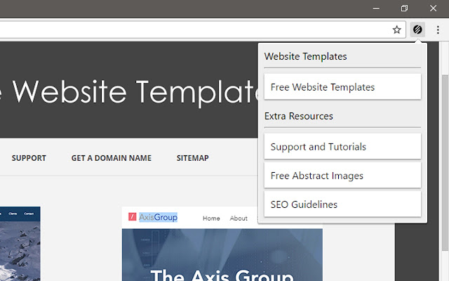 Free website templates chrome web store this extension provides free website templates and free resources for your website pronofoot35fo Images