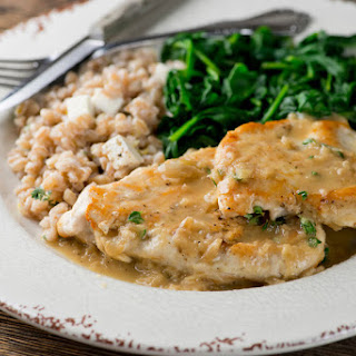 Chicken in Buttered White Wine Pan Sauce Recipe