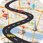 GPS Driving Route Planner with Navigation & Arrows Icon