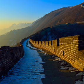 Majestic Great Wall by Kamal Kamaludin - Buildings & Architecture Public & Historical ( majestic wall architecture history tourism great ancient building culture stone old travel tree monument sky asia city famous tower historical structure china fort asian past landmark religion chinese temple art )