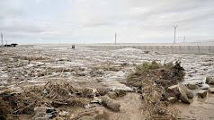 Invernaderos tirados por el temporal en la zona de San Isidro, en Níjar.