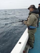 "Photo: ファーストヒットは、初乗船の""ナガシマさん""!"