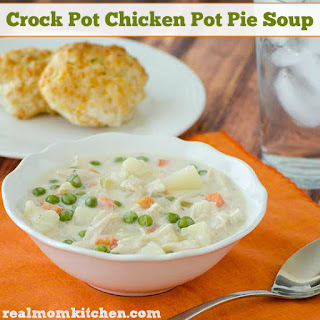 Crock Pot Chicken Pot Pie Soup.