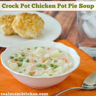 Crock Pot Chicken Pot Pie Soup.