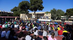 Celebración del Día Internacional del Niño con Cáncer, ayer en el Colegio Europa.