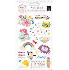 Pink Paislee Rub-Ons 2/Pkg - Wild Child Girl UTGÅENDE