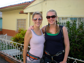 Photo: They've got their harnesses, Marcela and Ashley are ready to go!