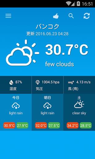 タイの天気