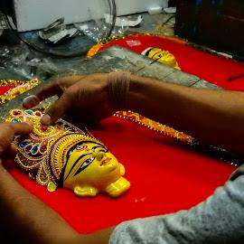 Hand Craft by Himadri S Lahiri - Uncategorized All Uncategorized ( puja decoration, kumortuli, pre-puja kumortuli, durga puja, handicraft,  )