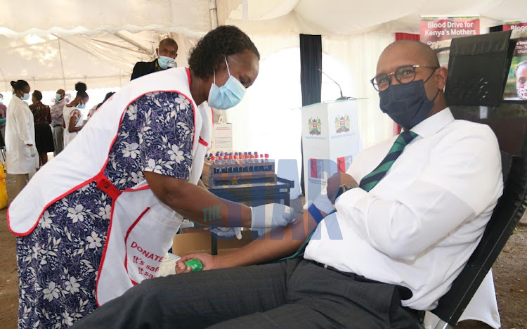 Kenya National Blood Transfusion Service in partnership with the coalition for blood Africa(CoBA) carry out a three day blood transfusion campaign at Uhuru Park Nairobi on Monday, 8 March aiming at providing enough blood for maternal health service. The exercise dubbed 'Keep Mothers Alive' is ongoing across the country to mark International Women's Day./WILFRED NYANGARESI