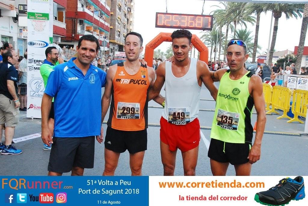 podium masculino Volta a Peu Sagunt 2018
