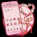 Pink Flower Vine Sandal Heart
