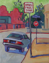 Photo: Drug Free Zone, Antioch, acrylic by Nancy Roberts, copyright 2014.