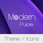 Modern Purple Theme + Icons