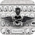 Black Silver Keyboard Cool Theme Icon