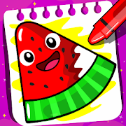 Fruits Coloring book & Food Drawing book Kids Free