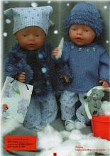 "Photo: №Б6. 200грн. Свитерок+ шапочка на  Baby Born 43 cм фото из журнала ""Andrea""для примера"