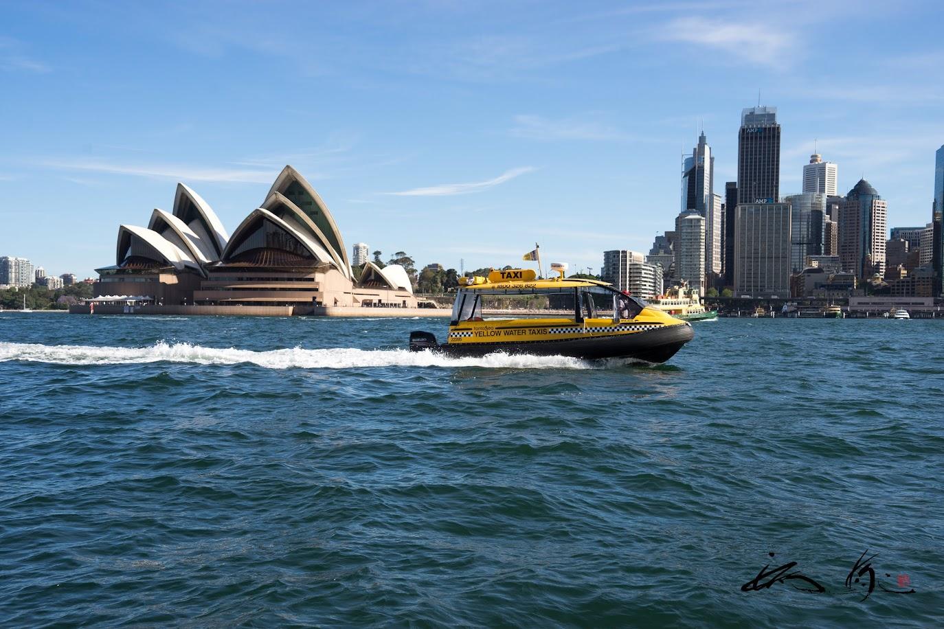 水上タクシーが行き交う!