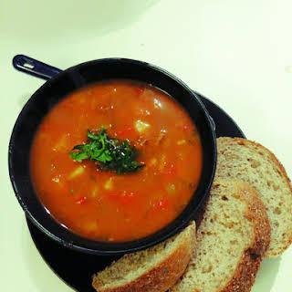 22 Hungarian goulash soup.