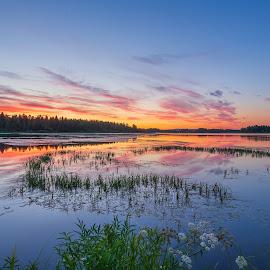 Sunset magic by Benny Høynes - Landscapes Waterscapes ( sigma, waterscape, sweden, sunset, sunsets, holiday, colorful, landscape, canon )