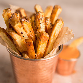 Traeger Fries with Chipotle Ketchup