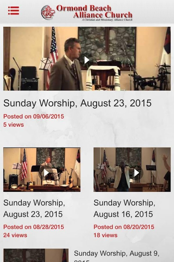 Ormond Beach Alliance Church- screenshot