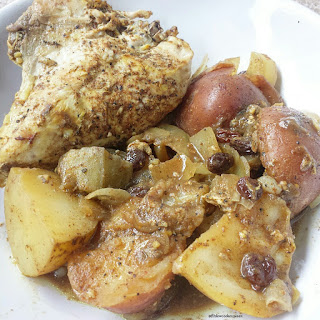 Slow Cooker North African Chicken.