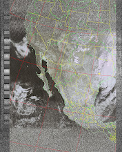 Photo: NOAA 19 northbound 34W at 30 Sep 2012 20:20:02 GMT on 137.10MHz, class enhancement, Normal projection, Channel A: 2 (near infrared), Channel B: 4 (thermal infrared)