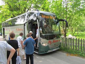 Photo: Inton bussi kuljetti martat Tukholman ja Riikan kautta koti-Korsoon.