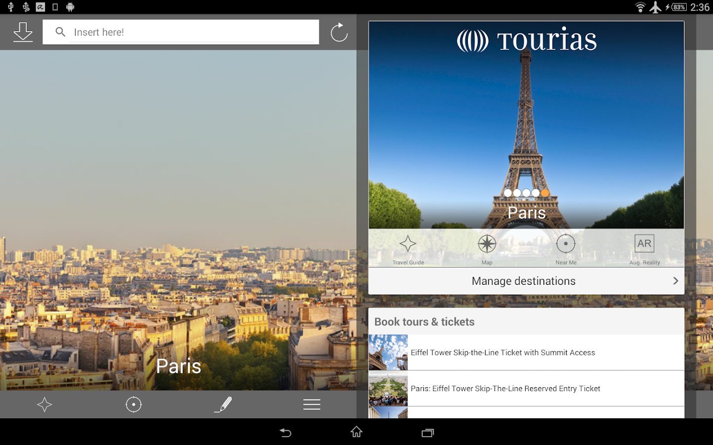 paris travel guide tourias android apps on google play. Black Bedroom Furniture Sets. Home Design Ideas