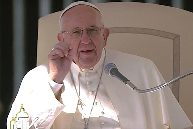 Pope at Jubilee Audience