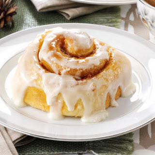 Favorite Frosted Cinnamon Rolls.