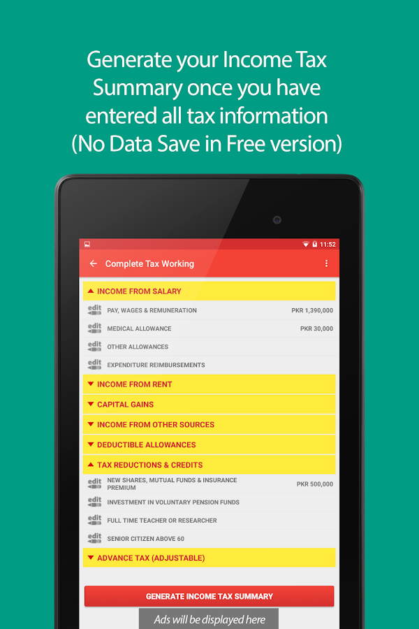 Tax Assistant Pakistan Android Apps On Google Play