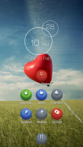 Delicate red balloons theme