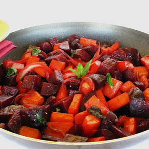 Warm Beet Salad with Mint