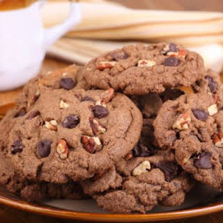 Sugar-Free Chocolate Pecan Cookies.