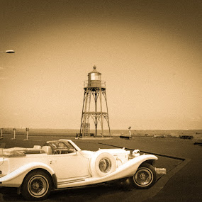 old  style by Alisa Andra - Transportation Automobiles ( ride, car, old, vintage, lighthouse )