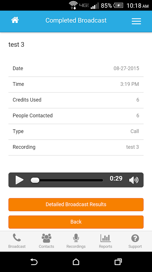 DialMyCalls Voice Broadcasting- screenshot