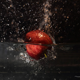 Applesplash by Alessandra Antonini - Food & Drink Fruits & Vegetables ( red, apple, water, splash,  )