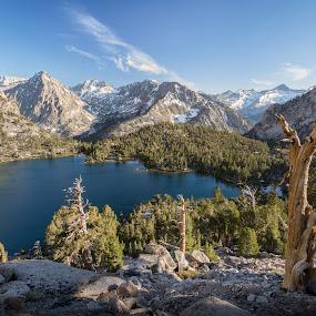 Bullfrog Lake by Ruben Parra - Landscapes Mountains & Hills ( kings canyon, golden hour, eastern sierra, california, lake )