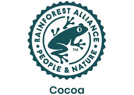 De chocolade die wij gebruiken is Rainforest Alliance gecertificeerd!