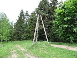 Photo: 23.Wierzchołek Czarnego Działu (673 m) z charakterystycznym betonowym triangułem. Rozpościera się stąd niezły widok na wschód w kierunku Mogielicy.