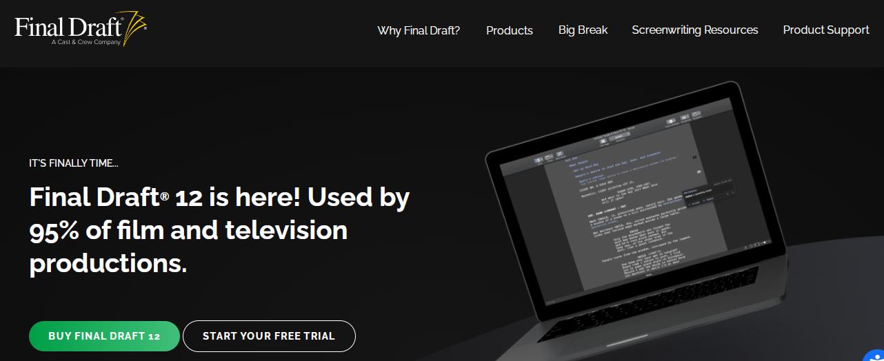 final draft screenwriting software