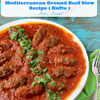 Mediterranean Ground Beef Stew.