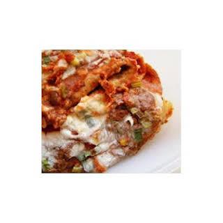 Vegetarian Bean and Cheese Enchiladas.