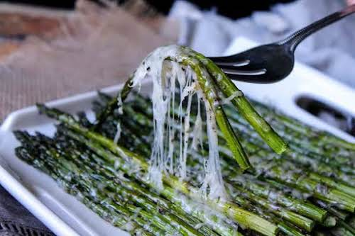 """Roasted Parmesan Asparagus """"One of our favorites. Quick and easy. It is..."""