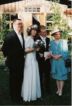 Photo: 19930619 Asko, Sanna, Mika, Salli - Kelvä (VainioMarja&Erkki)