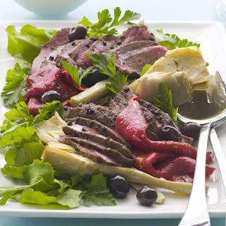 Peppered Lamb and Artichoke Salad.